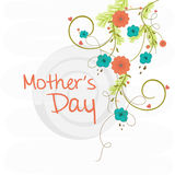 Greeting or invitation card for Happy Mothers Day. Royalty Free Stock Images