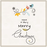 Greeting or invitation card for Merry Christmas. Royalty Free Stock Photography