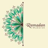 Greeting or invitation card for Ramadan Kareem celebrati. Elegant greeting or invitation card decorated with floral design for Muslim community festival, Ramadan stock illustration
