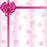 Greeting or invitation card with ribbon and bow Stock Images
