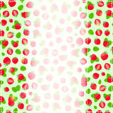 Greeting or Invitation Card with Ripe Straberry Stock Photography