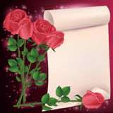Greeting or invitation card with roses Royalty Free Stock Photography