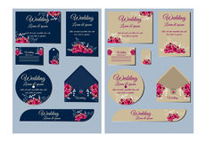 Greeting and invitation card suite. Vector Royalty Free Stock Photography