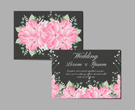 Greeting and invitation card suite. Vector Stock Image