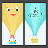 Greeting or Invitation Cards in doodle style. Stock Photography