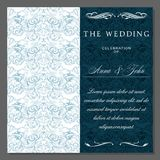 Greeting, invitation, wedding, card in the style of vintage, baroque, rococo, renaissance Royalty Free Stock Photos