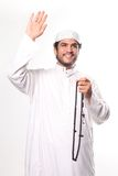 Greeting of Islam. The Muslim man greeting of Islam Stock Photos