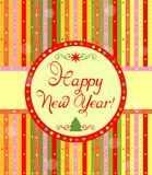 Greeting label for New Year Stock Photography