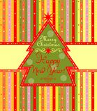 Greeting label for winter holidays Royalty Free Stock Images