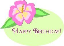 greeting lycklig hibiskus för födelsedagblomma royaltyfri illustrationer