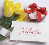 greeting lycklig s valentin för kortdag Arkivfoto