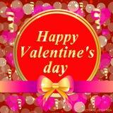 greeting lycklig s valentin för kortdag Ljust färgrik illustration Typografidesign för hälsningkort och affisch Arkivfoton