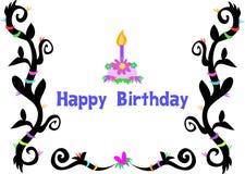 greeting lycklig tatuering för födelsedagbordecake royaltyfri illustrationer