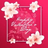 greeting lyckliga valentiner för kortdag arkivfoto