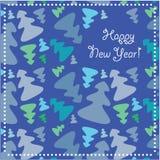 greeting lyckligt nytt år för kort Royaltyfria Bilder