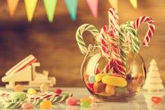 greeting lyckligt nytt år för 2007 kort Glad jul och lyckligt nytt år 2018 retro st Arkivfoton
