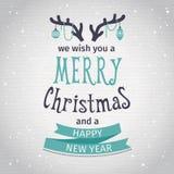 greeting lyckligt nytt år för 2007 kort Glatt märka för jul vektor illustrationer