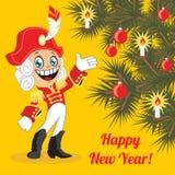 greeting lyckligt nytt år för 2007 kort också vektor för coreldrawillustration Royaltyfri Fotografi