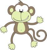 Greeting monkey Royalty Free Stock Photo