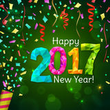 Greeting New Year 2017 green background Royalty Free Stock Photo