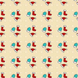Greeting New Year pattern Royalty Free Stock Photo