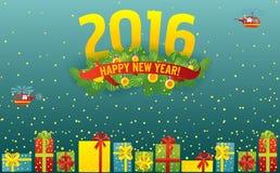 greeting nytt år för kort Arkivbilder