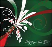 greeting nytt år för kort Royaltyfria Bilder