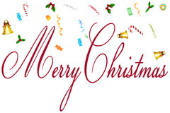 Greeting Of Merry Christmas Card Royalty Free Stock Photos