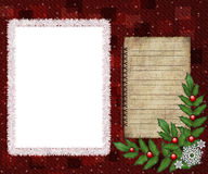Greeting picture frame Stock Image
