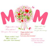 Greeting postcard for Mother's Day Royalty Free Stock Photo