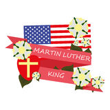 Greeting ribbon day Martin Luther king, Jr Royalty Free Stock Images