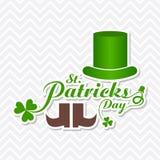 Greeting for Saint Patricks Day Celebration Stock Photography