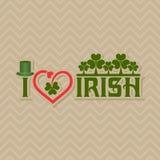 Greeting for Saint Patricks Day Celebration Stock Image