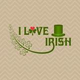 Greeting for Saint Patricks Day Celebration Royalty Free Stock Photos