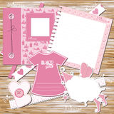 Greeting scrapbook card  for girl Stock Photo