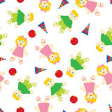 Greeting seamless pattern Stock Photography