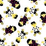 Greeting seamless pattern Stock Image
