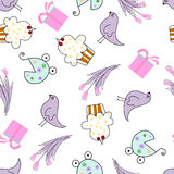 Greeting seamless pattern Stock Photo