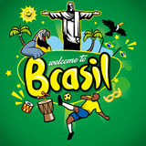 Greeting series welcome to brasil. Vector of greeting series welcome to brasil stock illustration