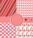 Greeting set  of patterns Royalty Free Stock Photos