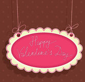 Greeting Signboard with Valentines Day Royalty Free Stock Photo