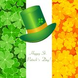 Greeting St. Patrick card Stock Images