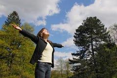 Greeting sun - enjoying life Royalty Free Stock Image