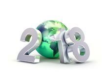 2018 Greeting symbol for environment Royalty Free Stock Photography
