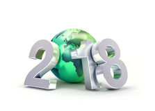 2018 Greeting symbol for environment Stock Photos