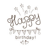 Greeting text for birthday. Stock Photo