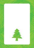 Greeting for text with christmas tree. Background Stock Photo