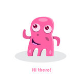 Greeting text with funny monster Stock Images
