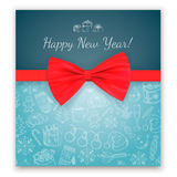 Greeting text and sketch decorations. Stock Photos