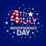 Greeting of 4th july american independence day stock illustration